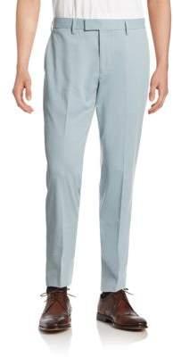 Black & Brown Black Brown Flat-Front Chino Pants