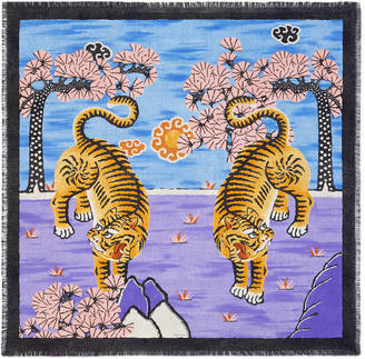 Gucci Bengal silk scarf $465 thestylecure.com