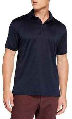 Ermenegildo Zegna Men's Pique Polo Shirt, Navy