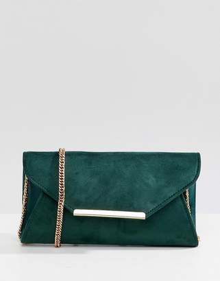 Coast suede envelope clutch bag