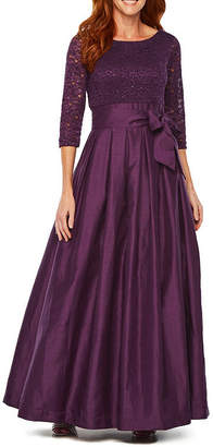 Jessica Howard 3/4 Sleeve Ball Gown