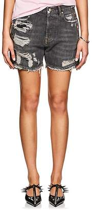 Faith Connexion WOMEN'S DISTRESSED DENIM SHORTS