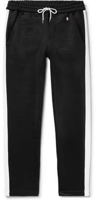 Ami Striped Loopback Satin-Jersey Sweatpants