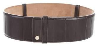 Jimmy Choo Embossed Leather Waist Belt