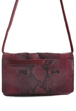 Miu MiuMiu Miu Purple Python Flap Shoulder Handbag BY4813 MHL