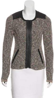 Rag & Bone Leather-Paneled Bouclé Jacket