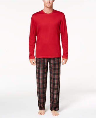 Club Room Men's Fleece Pajama Set, Created for Macy's