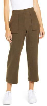 Blank NYC Blanknyc Knit Wide Leg Crop Pants