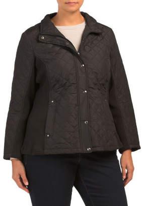 Plus Quilted Walker Jacket
