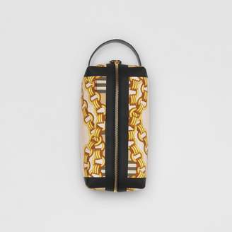 Burberry Archive Scarf Print Cotton Pouch, Black