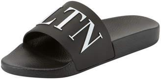 Valentino VLTN Men's Logo-Embossed Pool Slide Sandal