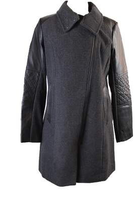 Andrew Marc Marc York Black Mixed-Media Coat