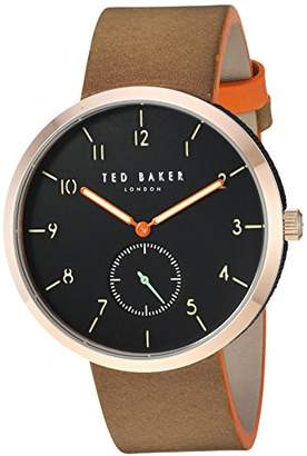 Ted Baker Men's 'Josh' Quartz Stainless Steel and Leather Casual Watch