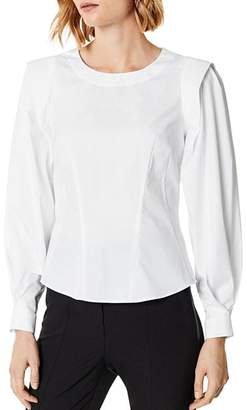 Karen Millen Blouson-Sleeve Tailored Top