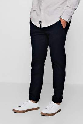 boohoo Stretch Slim Fit Cotton Chino Trouser