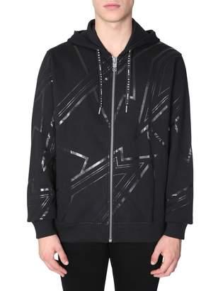Les Hommes Hooded Sweatshirt With Zip