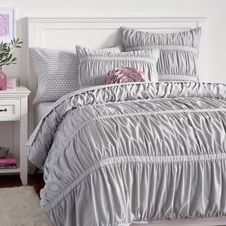 Pottery Barn Teen Pucker Up Comforter, XL Twin, White