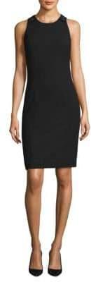 BOSS Textured Stretch Sleeveless Dress