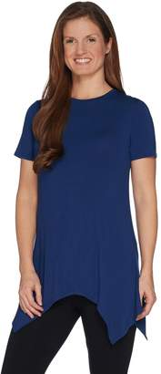 Cuddl Duds Softwear with Stretch Handkerchief Hem Tunic Top