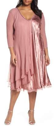 Komarov Tiered A-Line Dress