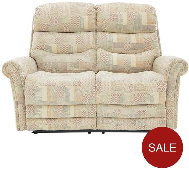 Salone 2-Seater Fabric Manual Recliner Sofa