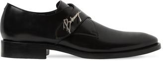 Balenciaga Leather Slip-on Shoes W/ Metal Logo