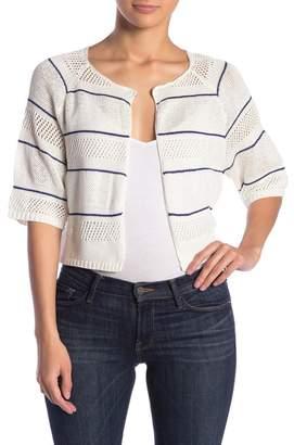 Kinross Kimono Sleeve Stripe Texture Cardigan