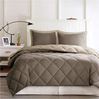 MADISON PARK ESSENTIALS Madison Park Essentials Larkspur Microfiber Reversible Down Alternative Comforter Set