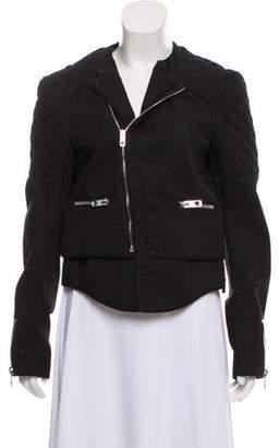 Balenciaga Twill Moto Jacket