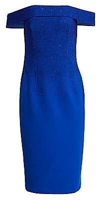 Ahluwalia Women's Off-The-Shoulder Dégradé Beaded Dress