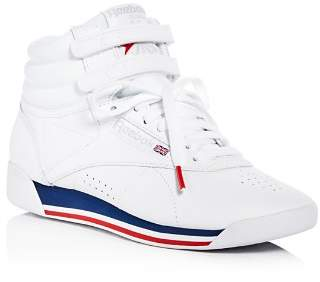 Reebok Women's Freestyle Retro Leather High Top Sneakers