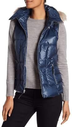 Andrew Marc Lanie Faux Fur Trim Quilted Vest