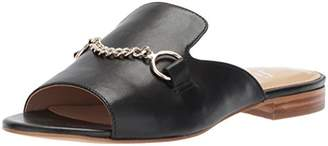 The Fix Women's Nikole Open Toe Slide with Chain Detail Flat Sandal