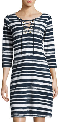 Tommy Bahama Brushed Breaker Striped Dress $99 thestylecure.com