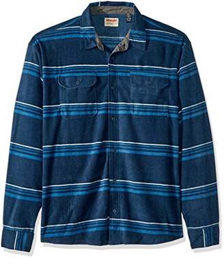 Wrangler Authentics Men's Big & Tall Long Sleeve Plaid Fleece Shirt Jacket