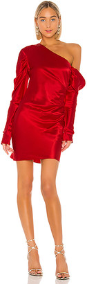 Michael Lo Sordo Cold Shoulder Mini Dress