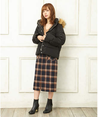 INGNI (イング) - INGNI 【CanCam1月号掲載】ontジップシャギーチェックナロースカート