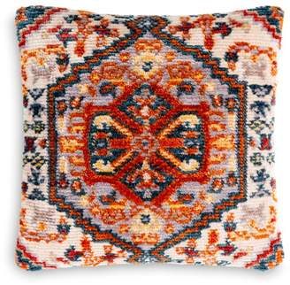 "Surya Savona Cream & Orange Throw Pillow, 27"" X 27"""