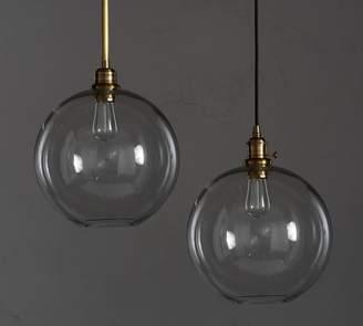 Pottery Barn PB Classic Pendant with Glass Globe Shade