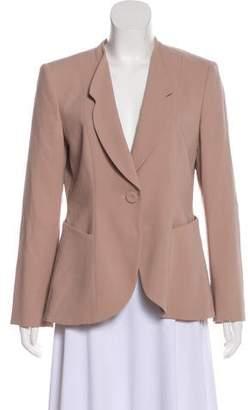 Giorgio Armani Virgin Wool Long Sleeve Blazer