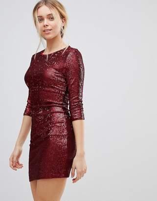 Girls On Film Sequin Mini Dress