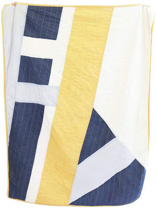 Large Throw Quilt (Gold & Slate)