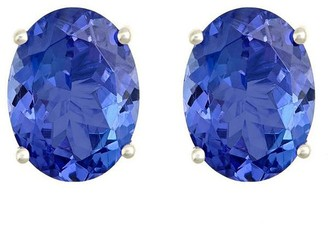 Premier 2.00 cttw Oval Tanzanite Stud Earrings,14K