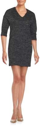 SET Women's V-Neck Knit Dress