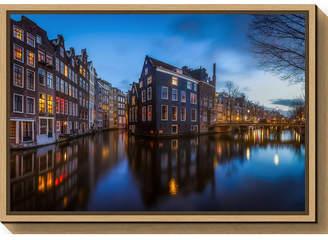 Amanti Art Blue Amsterdam by Clara Gamito Canvas Framed Art