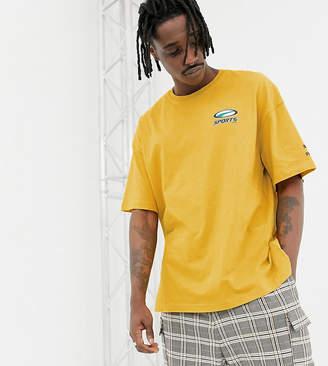 Puma organic cotton t-shirt in yellow Exclusive at ASOS