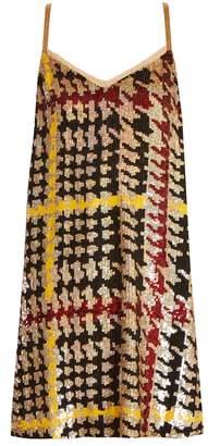Ashish Hound's-tooth sequin-embellished mini dress