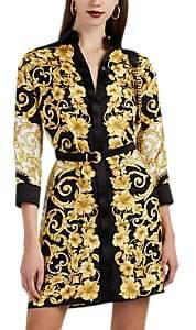 Versace Women's Hibiscus-Print Silk Shirtdress