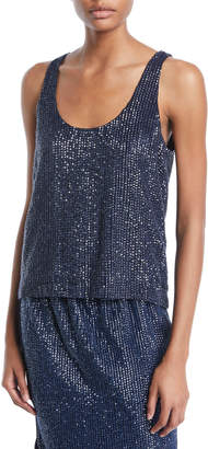 Joie Deluca Sequin Tank Top