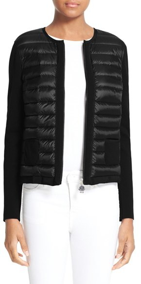 Moncler Women's Moncler Maglia Quilted Down Front Tricot Cardigan